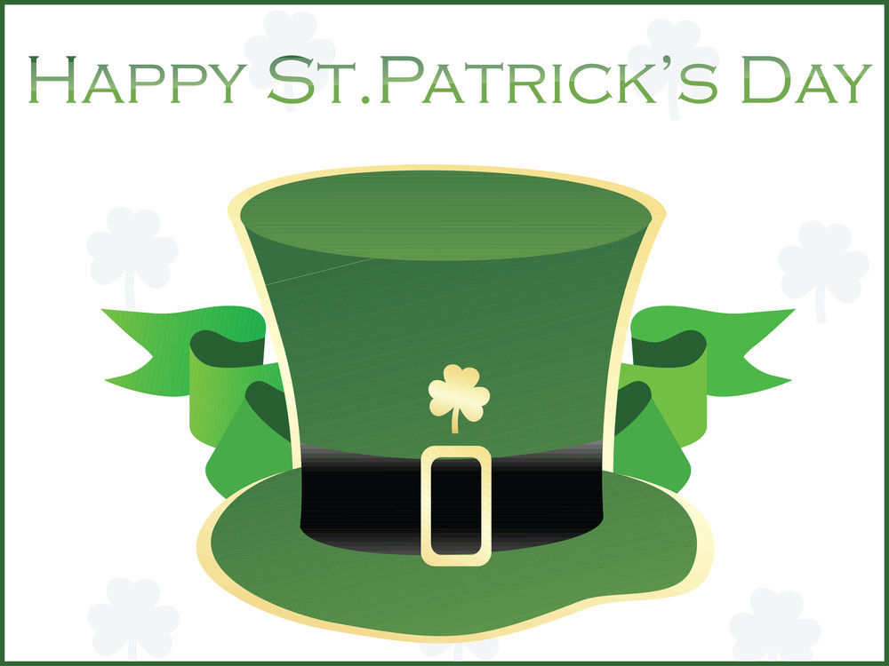 Patrick's Day Hat With Ribbon Vector 17 March