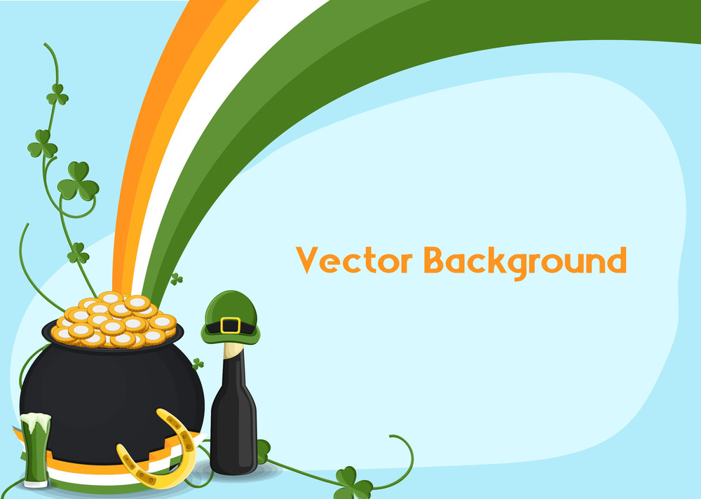 Patrick's Day Objects Vector Illustration