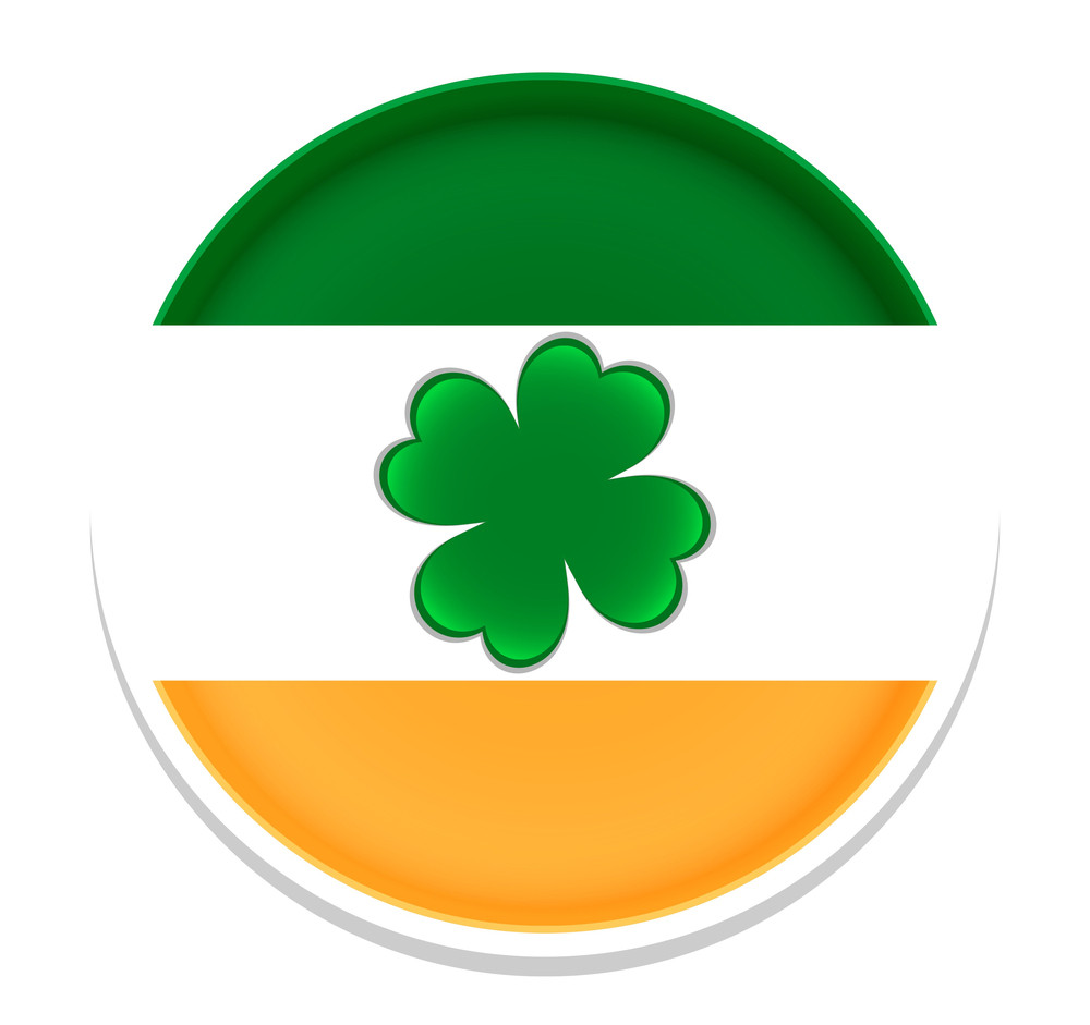 Patrick's Day Shamrock Badge
