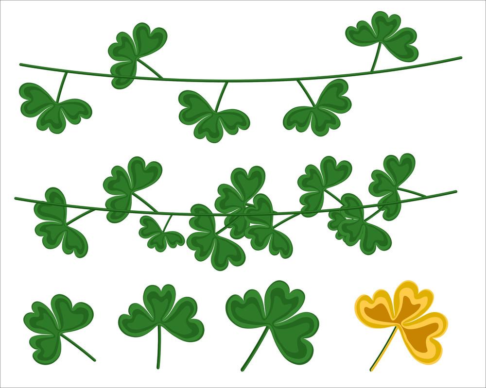 Patrick's Day Shamrock Leaves