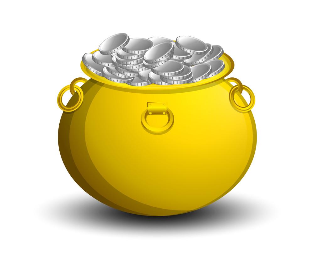 Patrick's Day Wealth Coins Cauldron