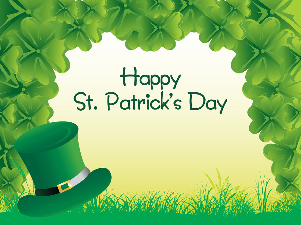 Patrick's Day With Green Background