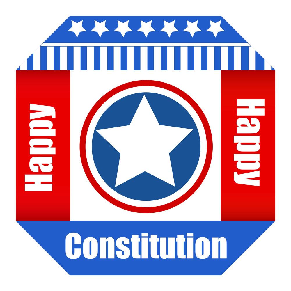 Patriotic Happy Constitution Day Vector Illustration