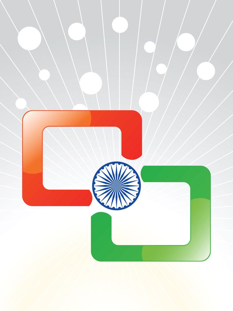 Patriotic Indian Background Vector Illustration