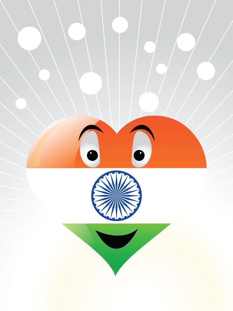 Patriotic Indian Heart Vector Wallpaper