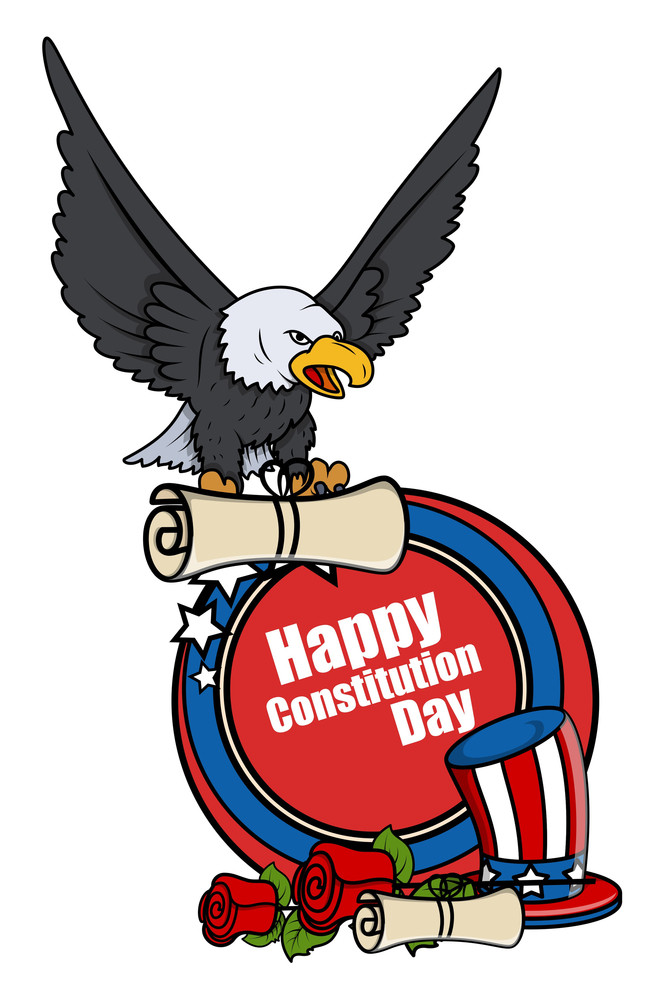 Patriotic Tattoo Style Constitution Day Vector Illustration