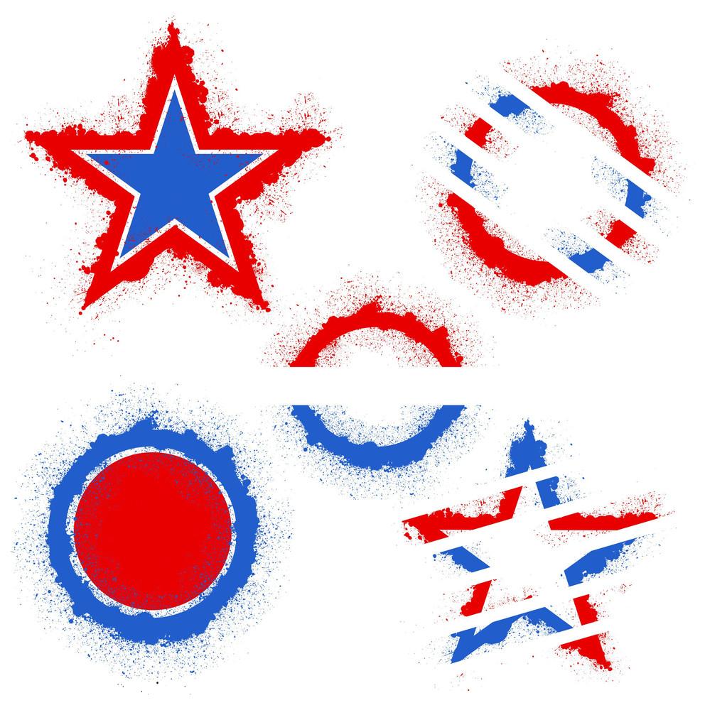 Patriotic Usa Theme Vector Set