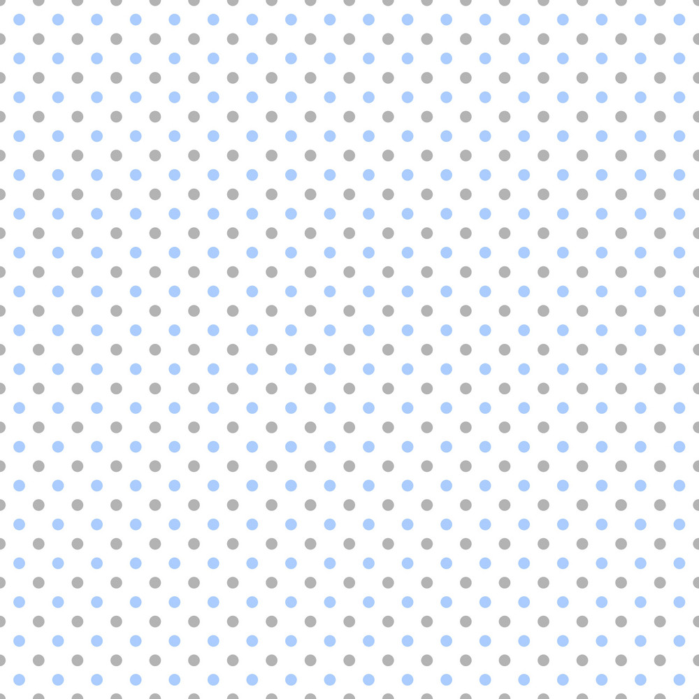 Pattern Of Blue And Purple Polka Dots On A White Background