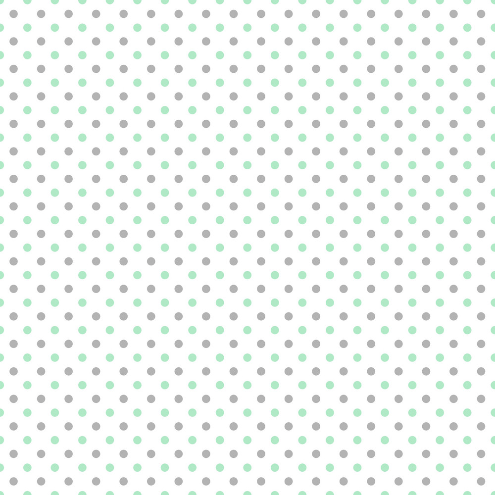 Pattern Of Mint Blue And Grey Polka Dots On A White Background