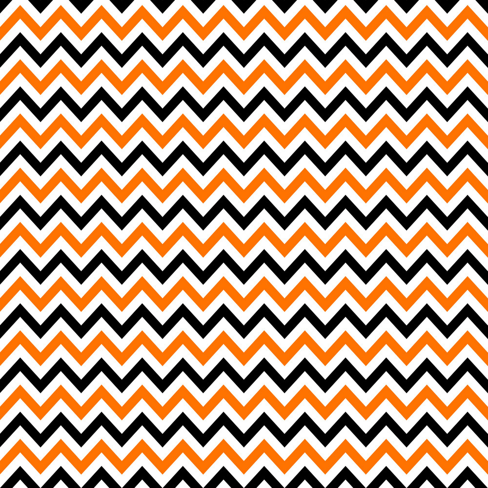 Pattern Of White, Orange, And Black Chevron