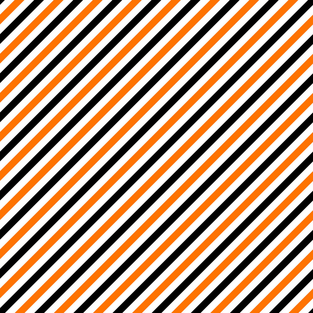 Pattern Of White, Orange, And Black Diagonal Stripes
