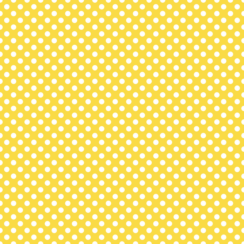 Pattern Of White Polka Dots On A Yellow Background Royalty ...