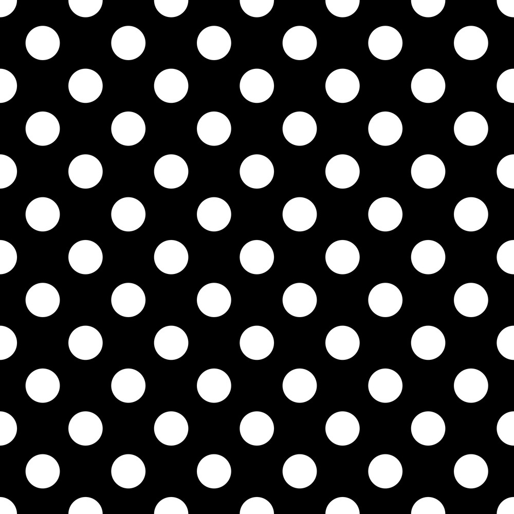 Pattern Of White Polka Dots On Black Minnie Mouse Paper Royalty Free