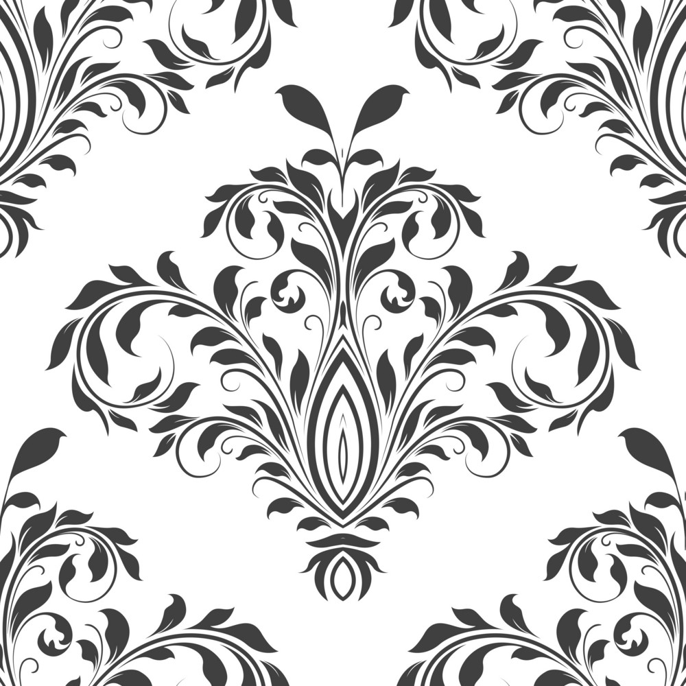 Pattern Vector Element With Floral Element