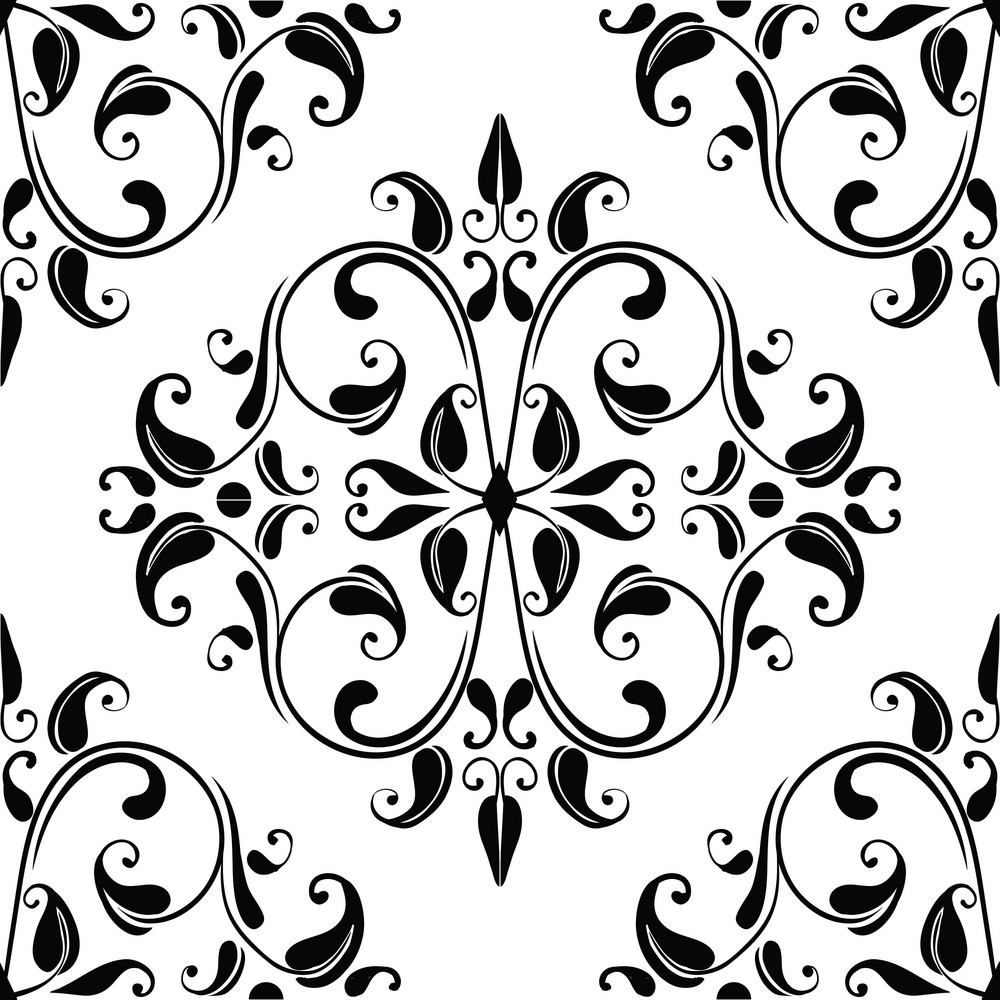 Pattern Vector Element With Floral Elements