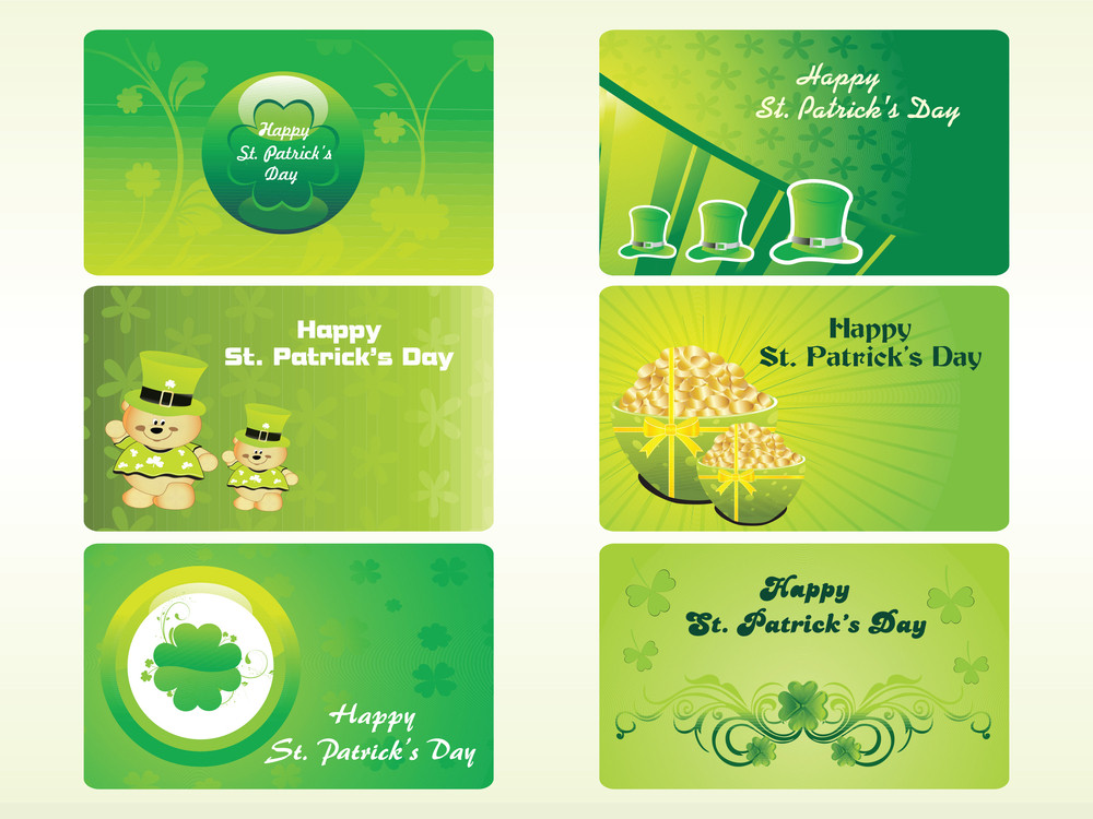 Pattrick's Day Pocket-size Card 17 March