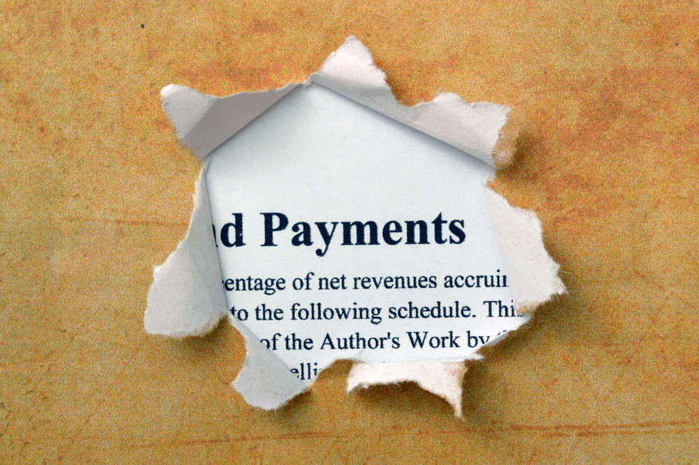 Payment Text On Paper Hole