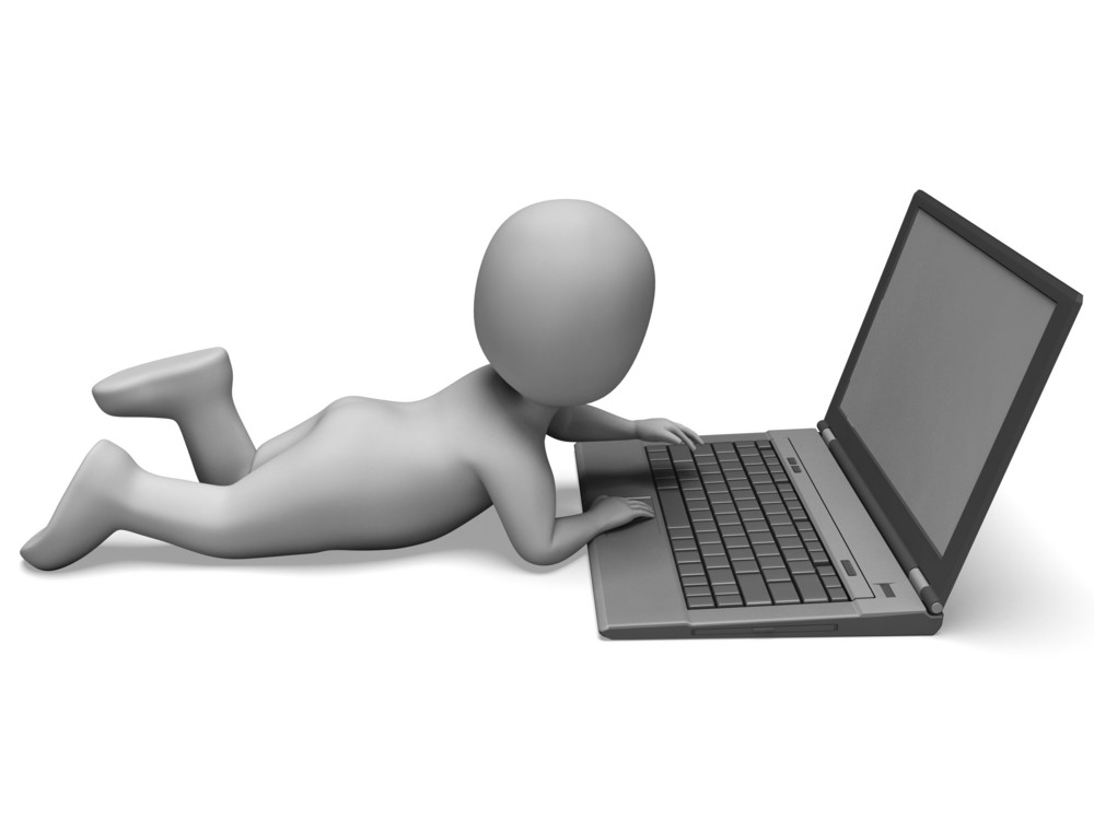 Pc Computer Shows Surfing Web Online