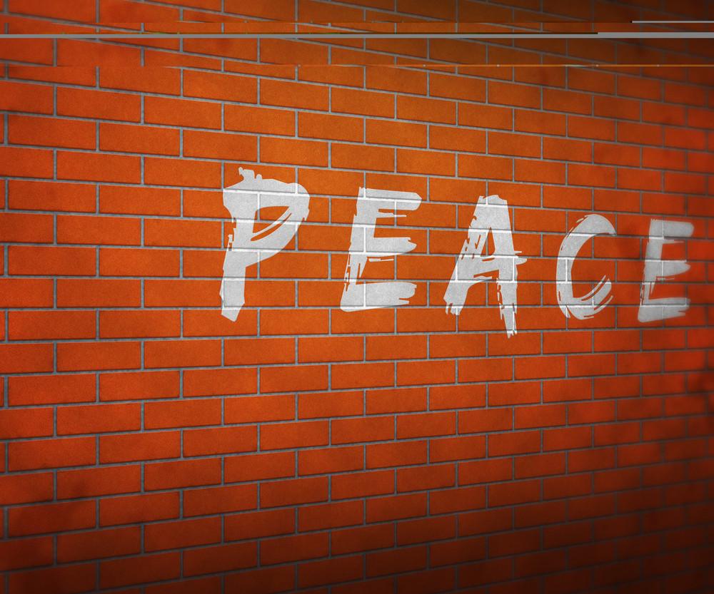 Peace On Brick Wall