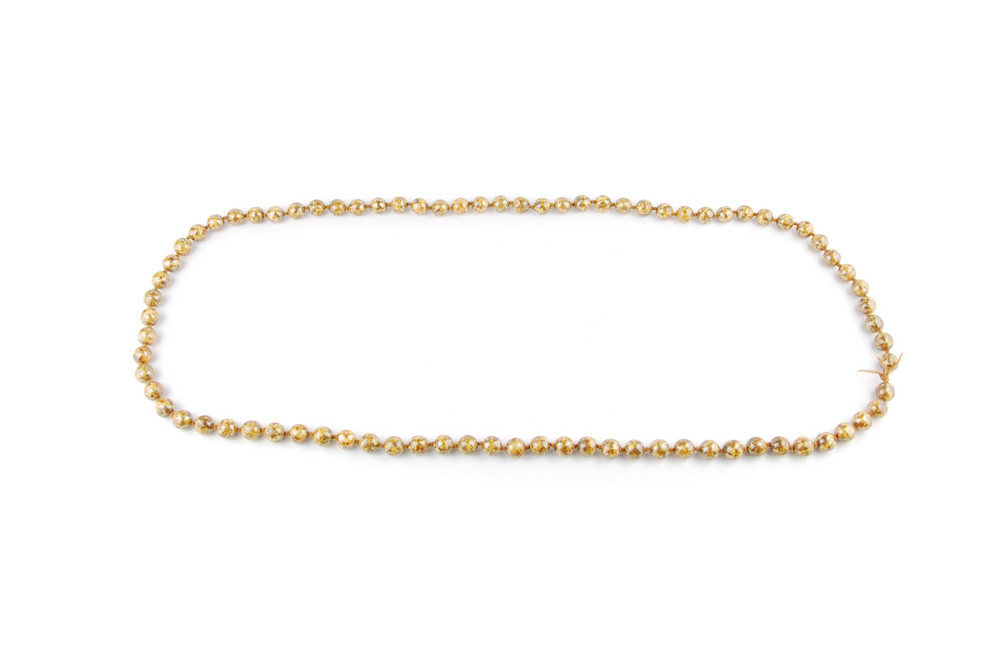 Pearl Necklace Racing Track On White