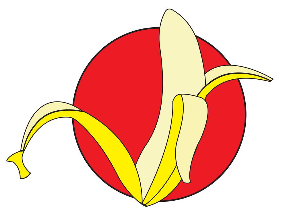 Peel Off Banana Design Shape