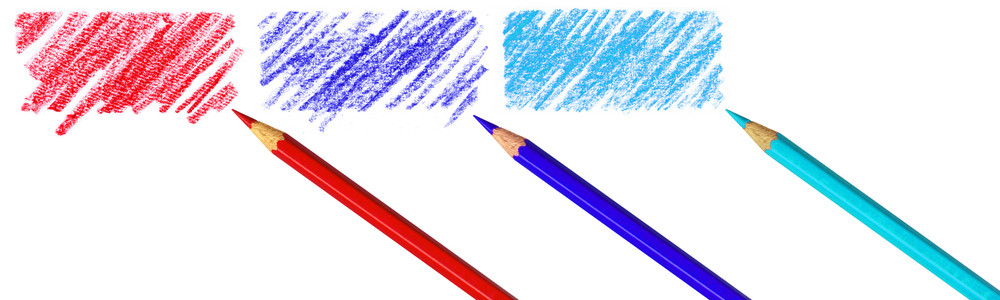 Pen With Scribbles On A White Background With Clipping Path.
