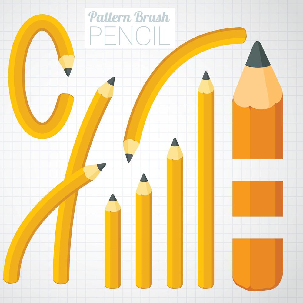 Pencil Illustrator Pattern Brush
