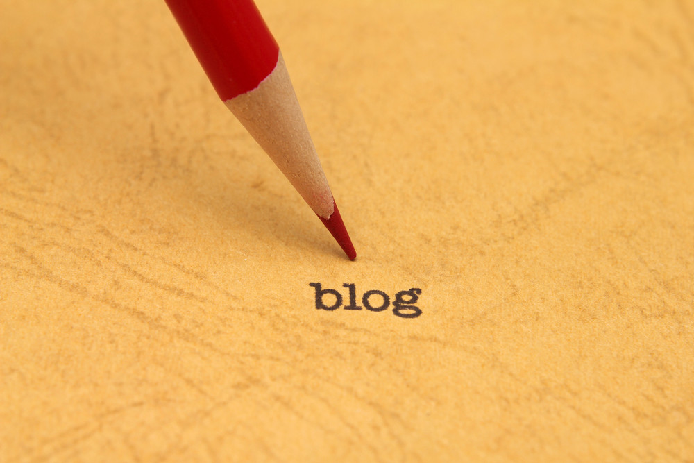 Pencil On Blog Text