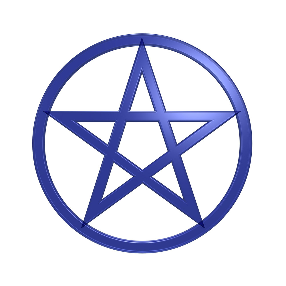 Pentagram Isolated On White.