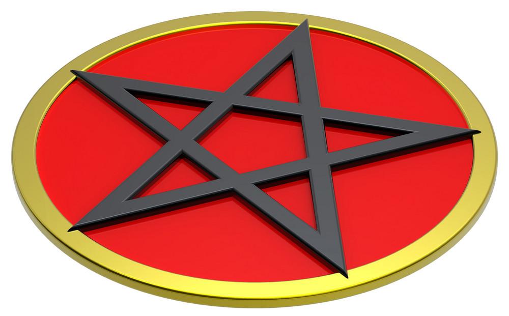 Pentagram Isolated On White.