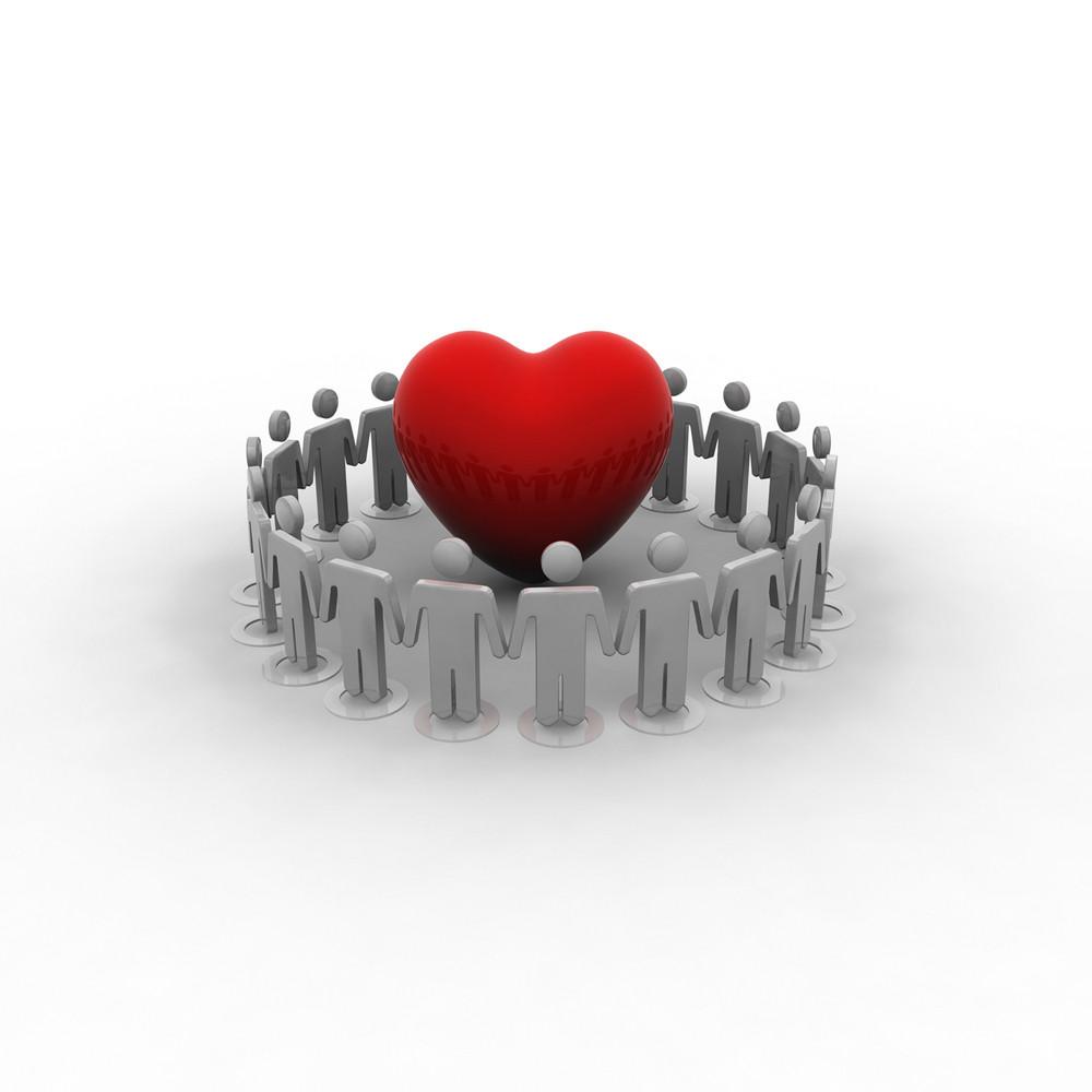 People Love & Peace Concept