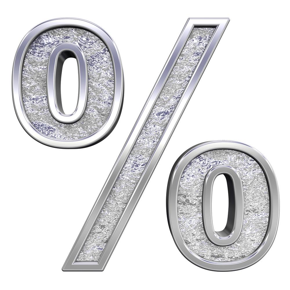 Percent Sign From Chrome Cast Alphabet Set