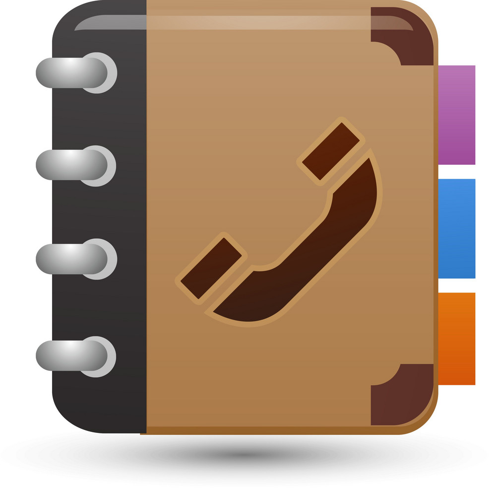 Phone Book Brown Lite Media Icon