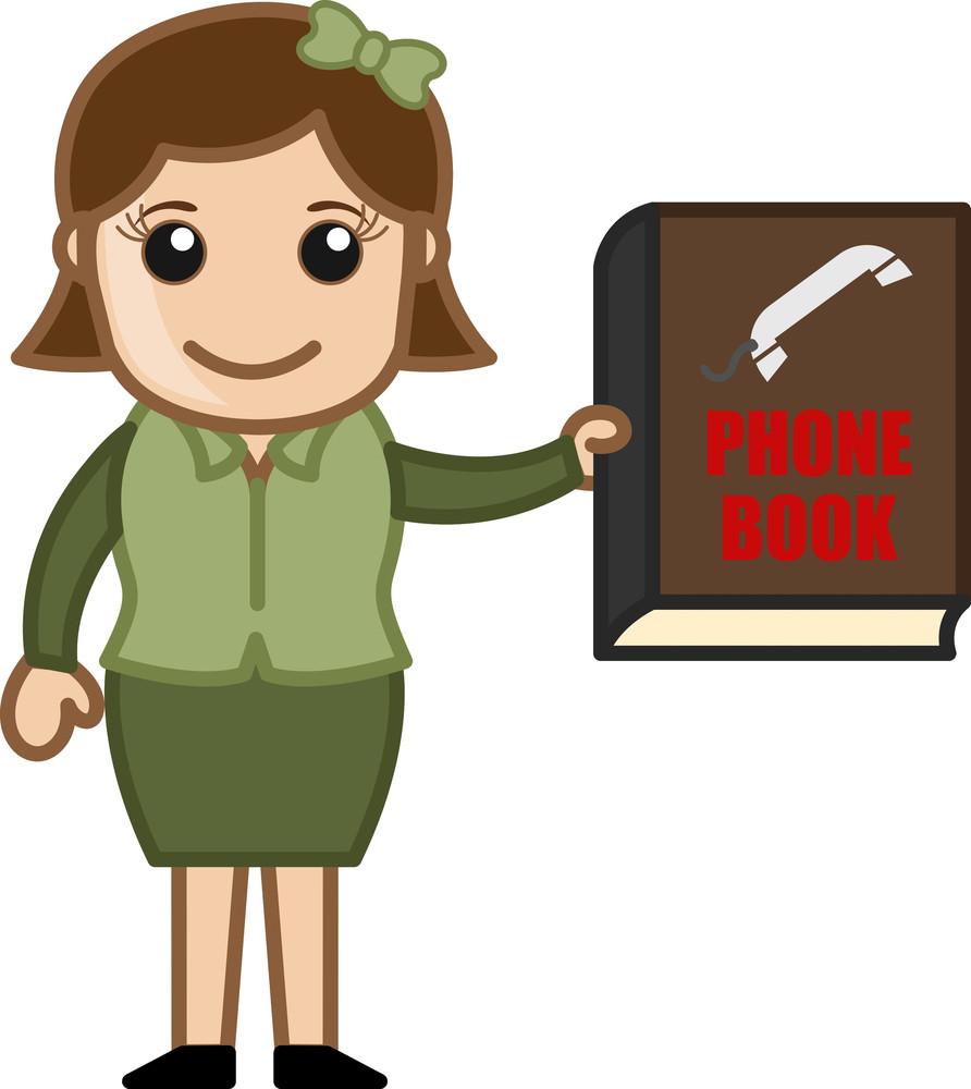 Phone Book - Business Cartoons Vectors