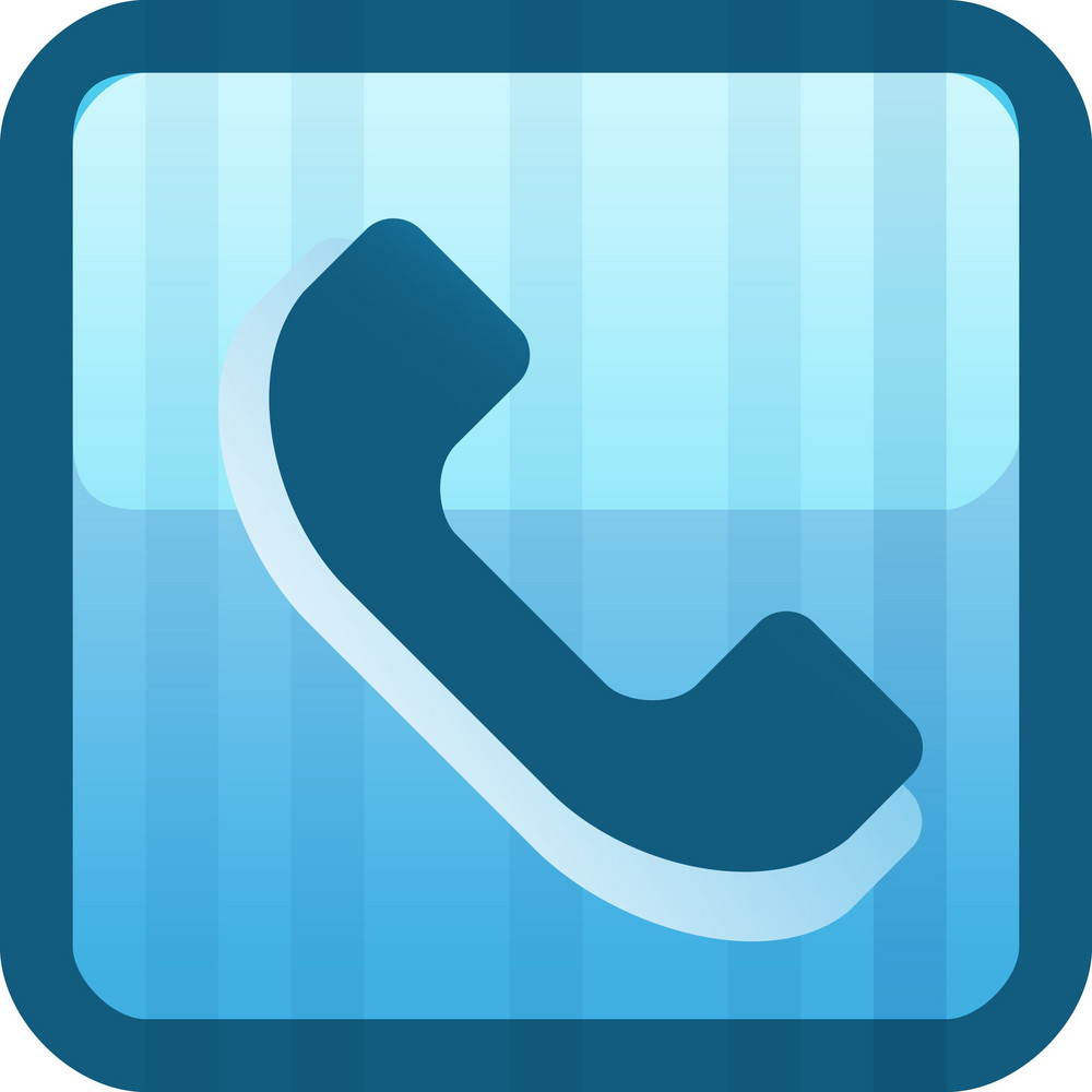 Phone Handset Blue Tiny App Icon