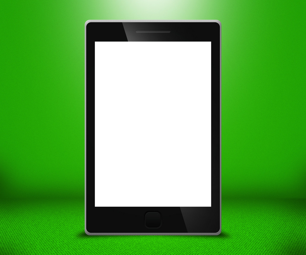 Phone Touch Screen Green Background