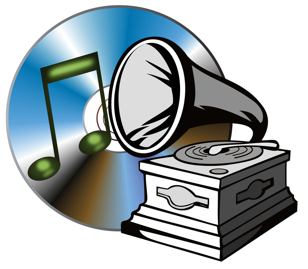 Phonograph With Treble Clef
