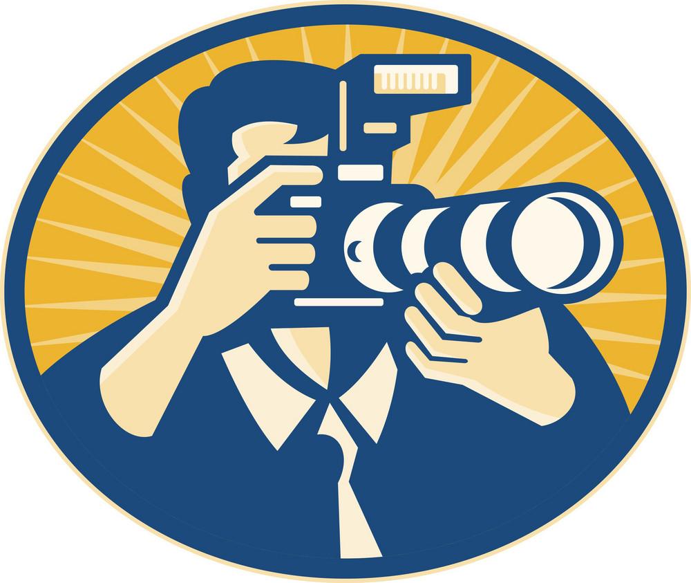 Photographer Dslr Camera Shooting Retro