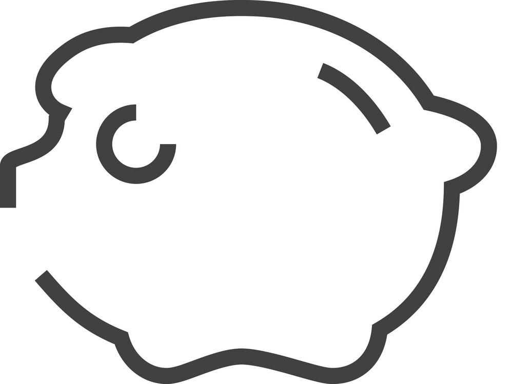 Pig Minimal Icon