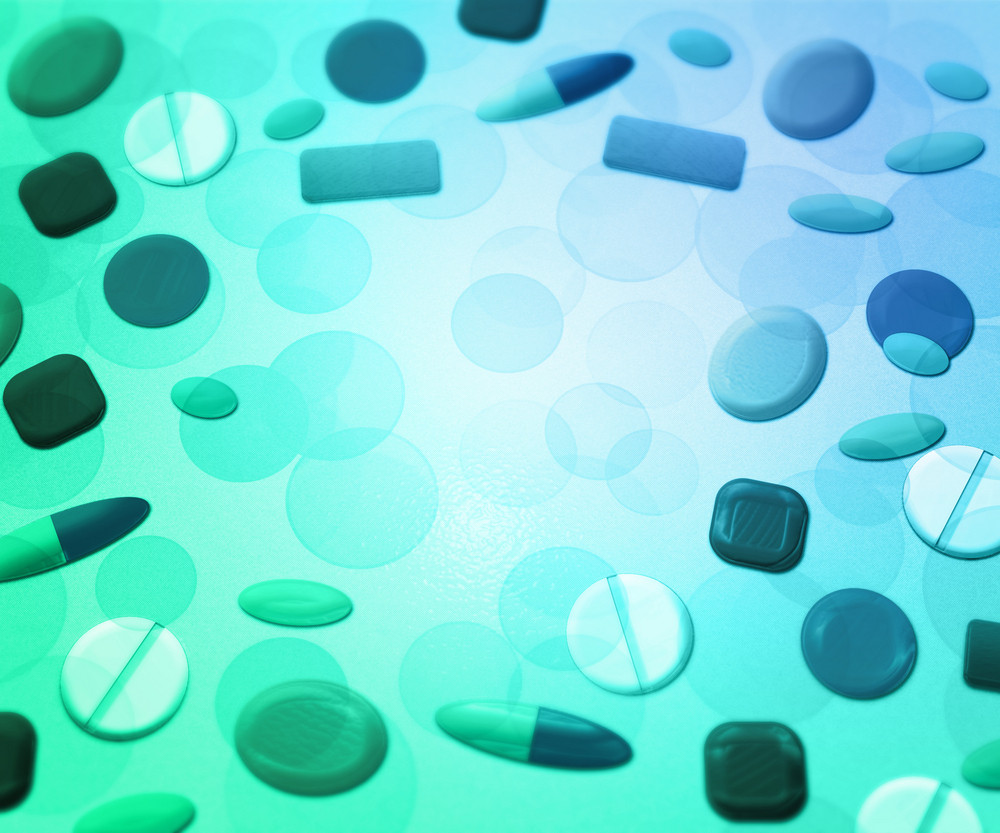 Pills Medical Blue Background