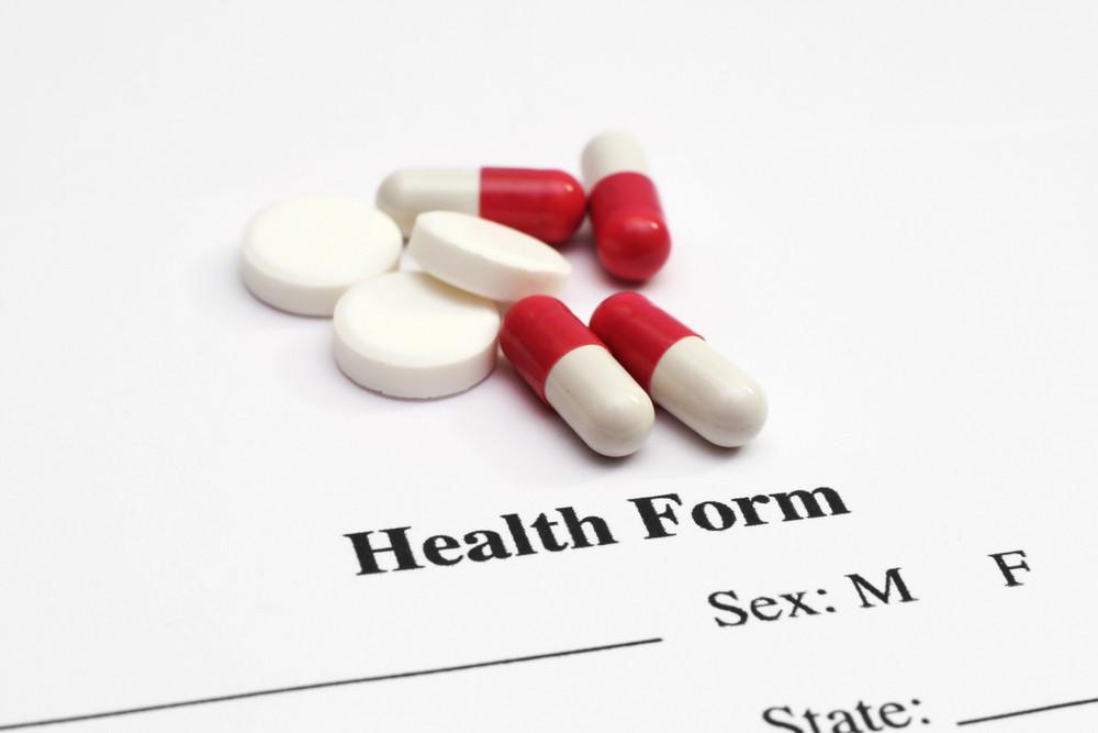Pills On Health Form