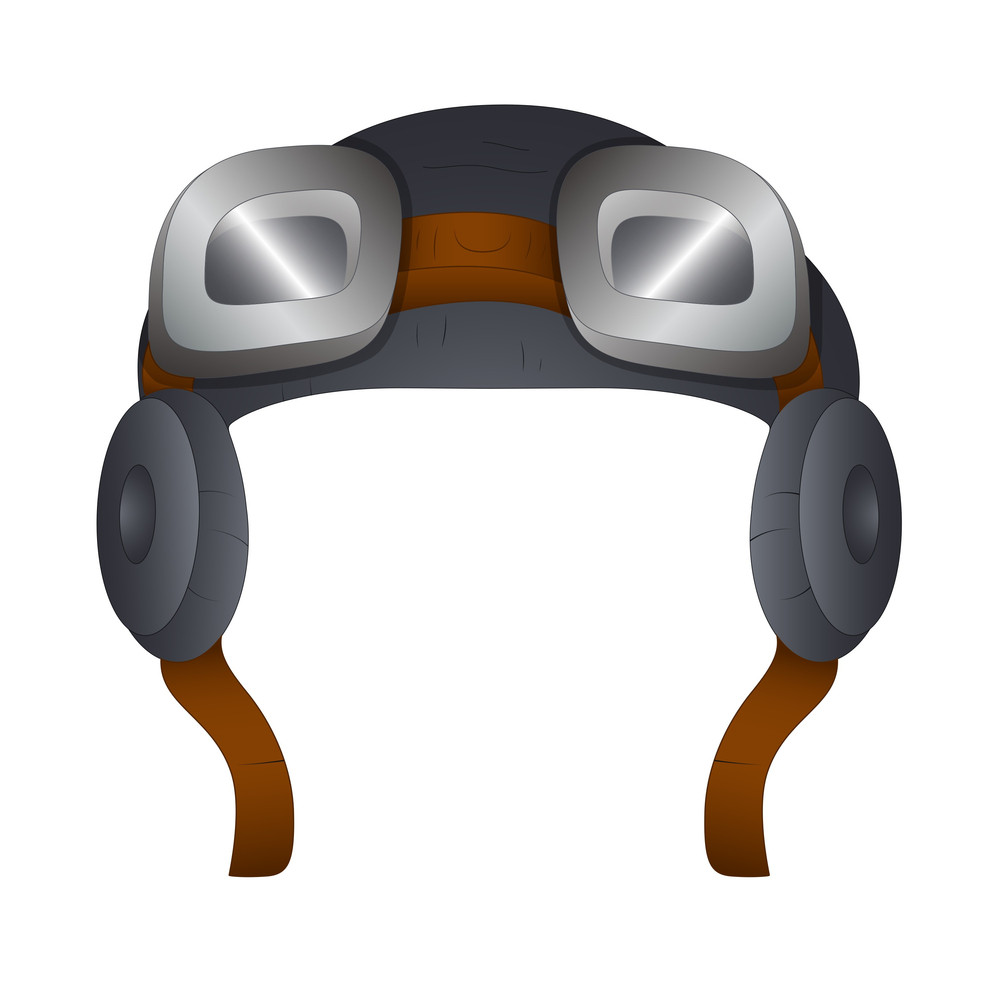 Pilot Helmet Vector