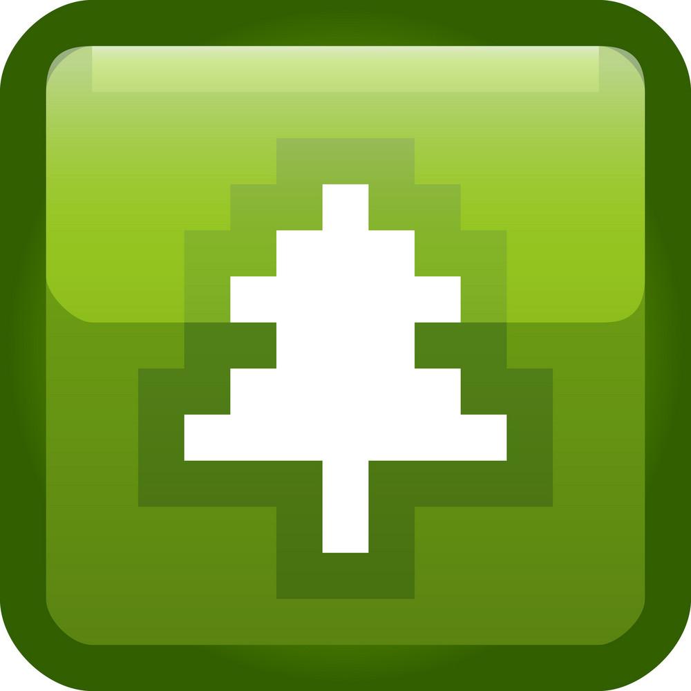 Pine Tree Green Tiny App Icon