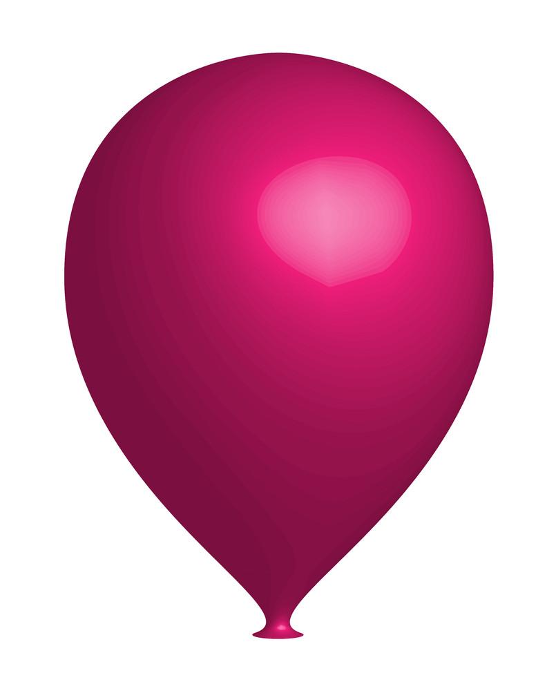 Pink 3d Balloon