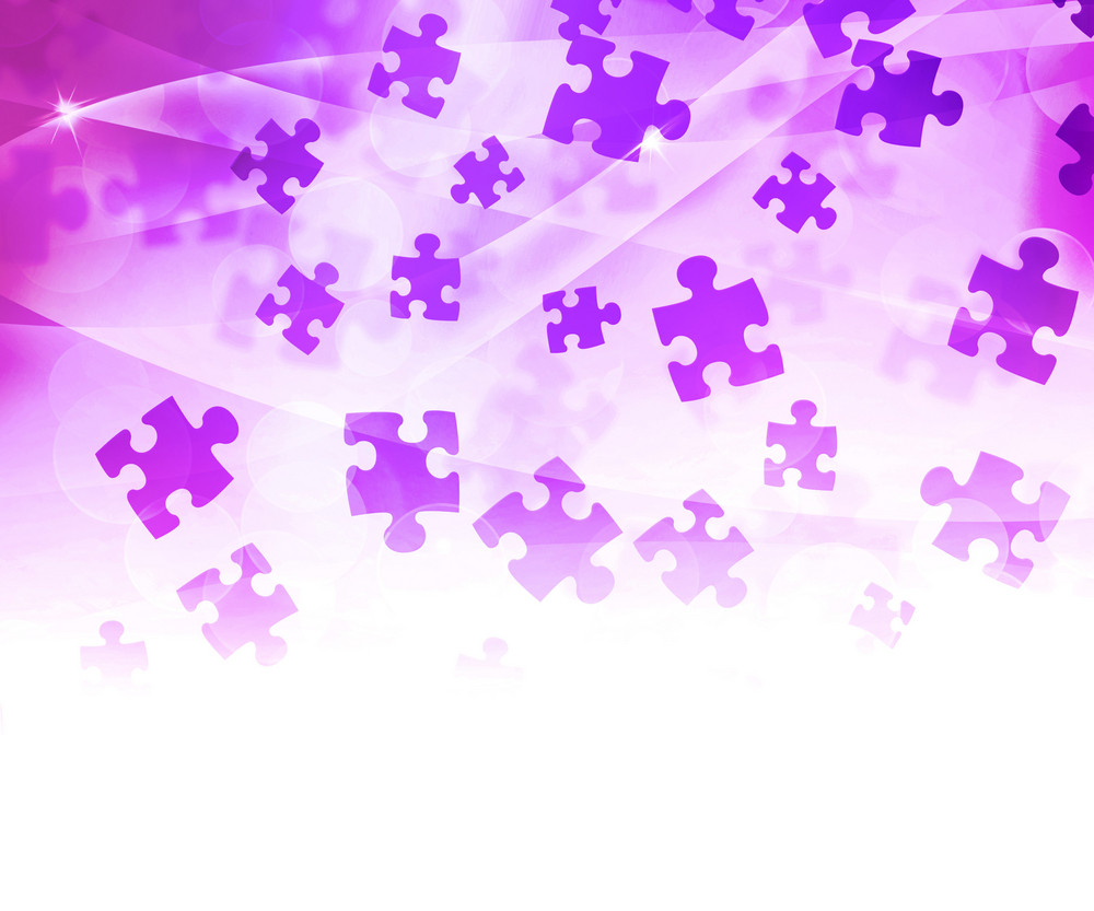 Pink Abstract Puzzle Background