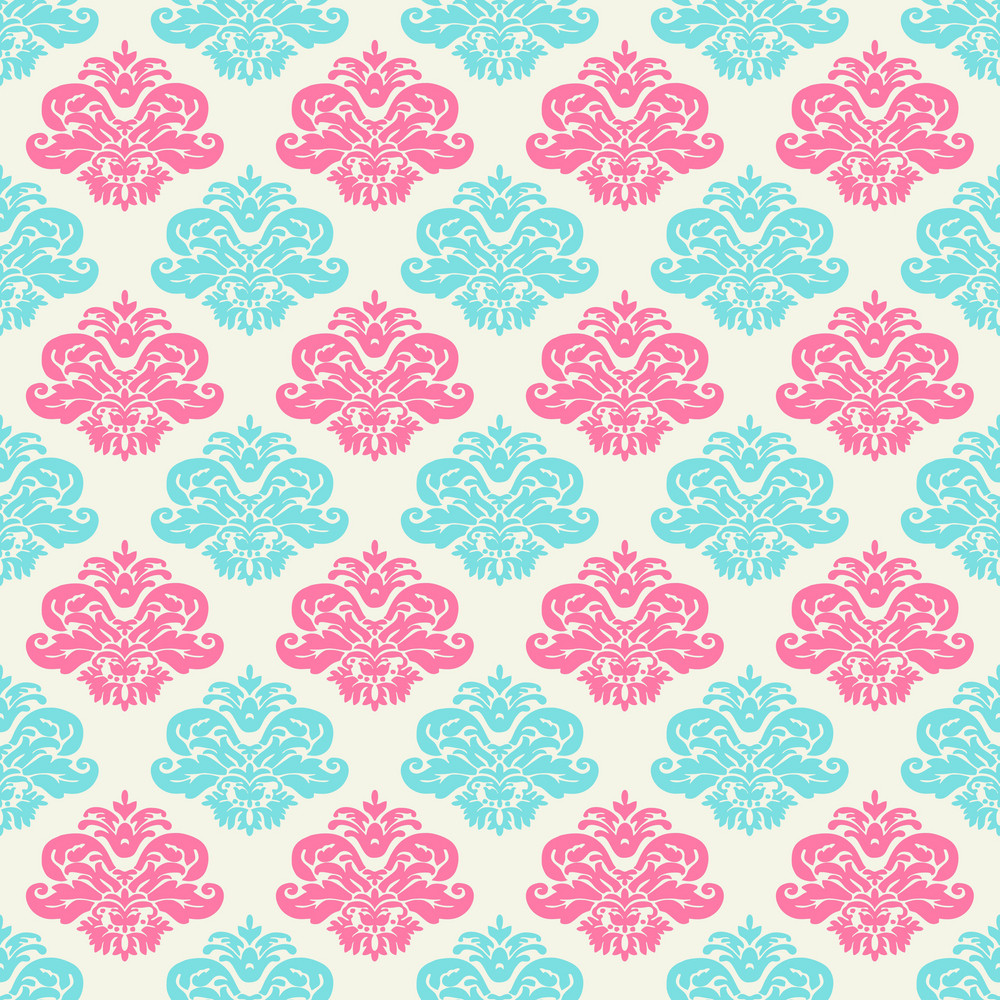 Pink And Turquoise Decorative Pattern