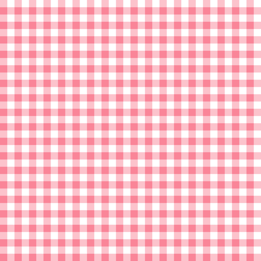 Pink And White Gingham Pattern
