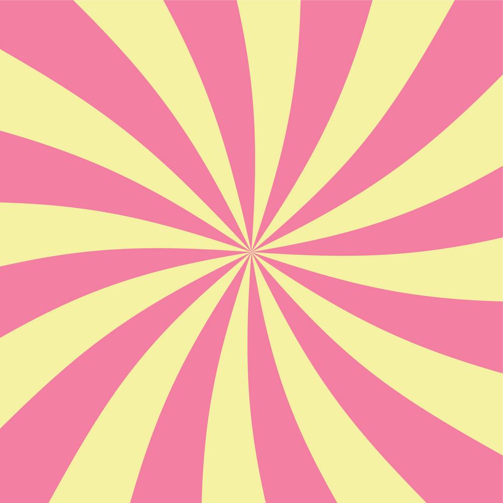 Pink And Yellow Swirls Pattern