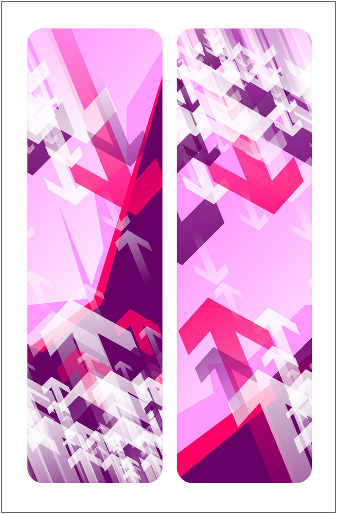 Pink Arrow Banners