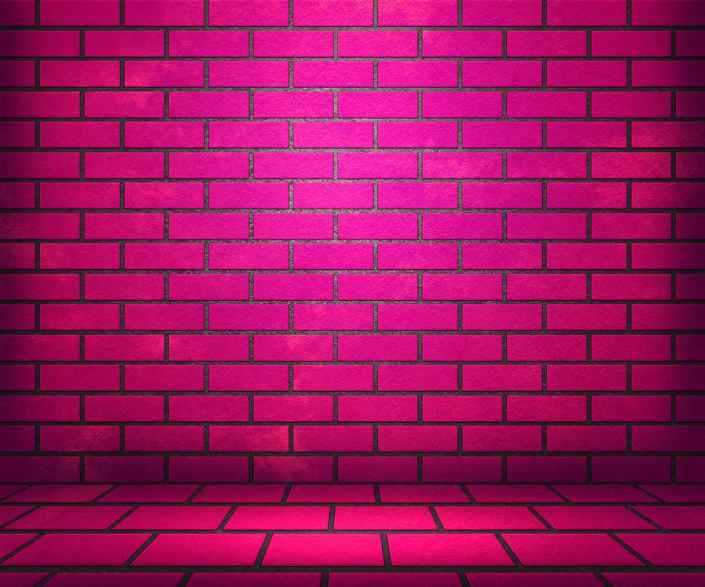Pink Brick Stage Background